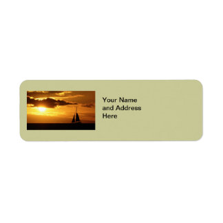 Maui Sunset Address Labels