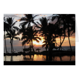 Maui Sunset Card