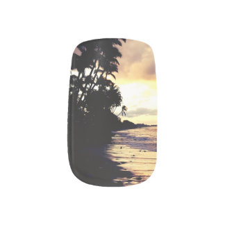Maui Sunset Minx nail art