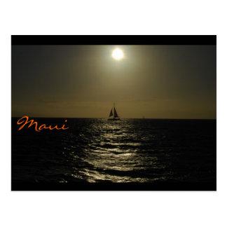 Maui Sunset Postcard