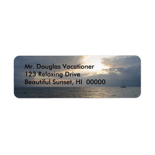 Maui Sunset Return Address Labels