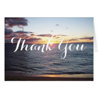 Maui Sunset Thank You Card