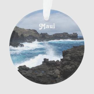 Maui Waves Crashing Ornament