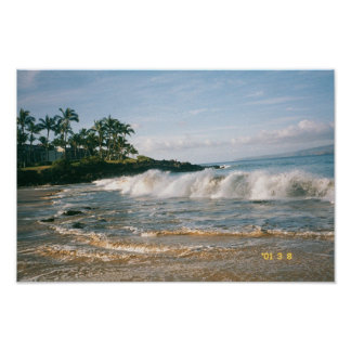 Maui Waves Poster