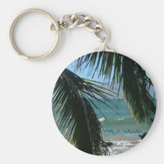 Maui's Tropical Beauty Basic Round Button Keychain