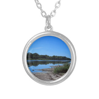 Maumee River Bedrock I Silver Plated Necklace