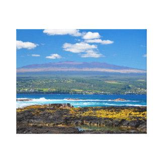 Mauna Kea and Hilo Bay Canvas Print