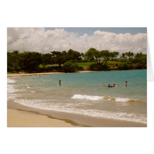 Mauna Kea, Hawaiian Beaches Card