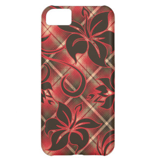 Mauna Loa Hawaiian Hibiscus Plaid Cover For iPhone 5C