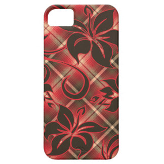 Mauna Loa Hawaiian Hibiscus Plaid iPhone 5 Case