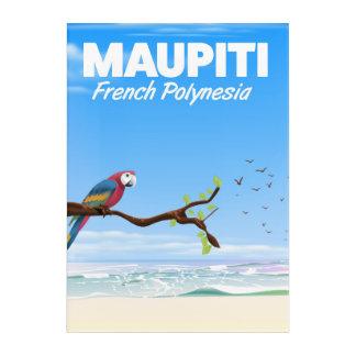 Maupiti French polynesia travel poster Acrylic Wall Art