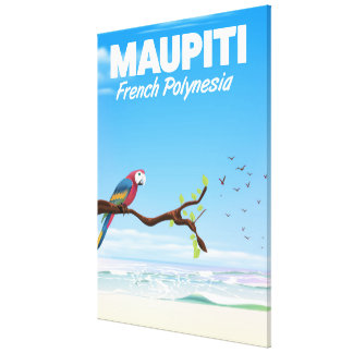 Maupiti French polynesia travel poster Canvas Print