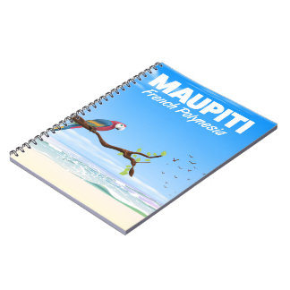 Maupiti French polynesia travel poster Notebook