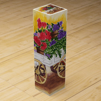 Maura Ganley Flower Cart Wine Gift Box
