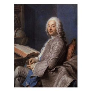 Maurice de La Tour- Portrait of Duval de l'Epinoy Postcard