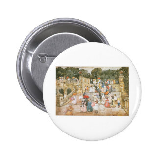 Maurice Prendergast, The Mall, Central Park Pinback Buttons