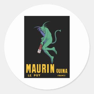 Maurin Quina - Cappiello 1906 - Absinthe Apertif Classic Round Sticker
