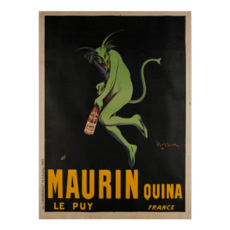 Maurin Quina Cappiello Absinthe Apertif Vintage Poster