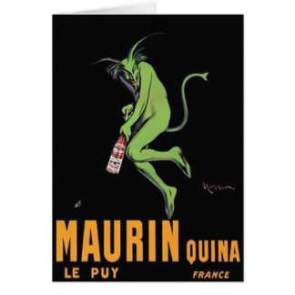 Maurin Quina Green Devil Absinthe Poster Note Card