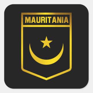 Mauritania Emblem Square Sticker