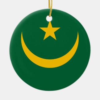 Mauritania Flag Ceramic Ornament