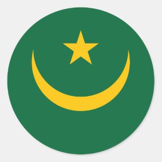 Mauritania Flag Classic Round Sticker