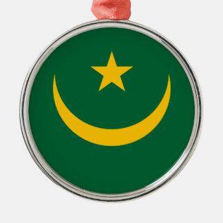 Mauritania Flag Metal Ornament