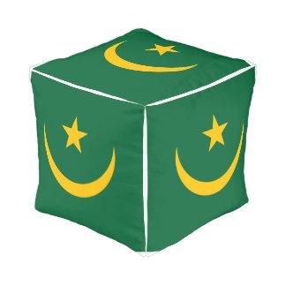 Mauritania Flag Pouf