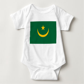 Mauritania National World Flag Baby Bodysuit