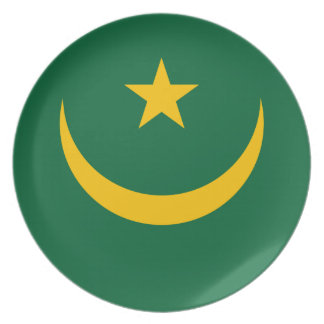 Mauritania National World Flag Plate