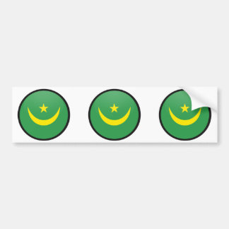 Mauritania quality Flag Circle Bumper Sticker