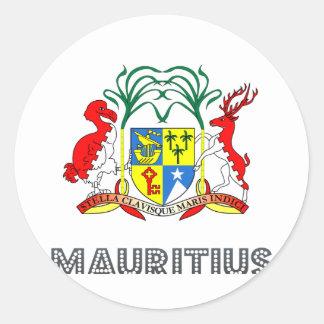 Mauritanian Emblem Classic Round Sticker