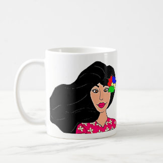 Mauritian lady coffee mug