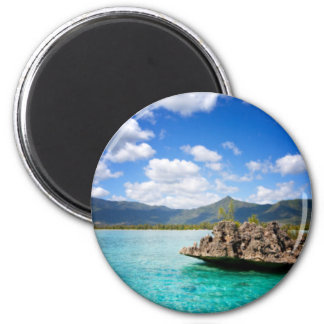 Mauritius Beach Round Magnet