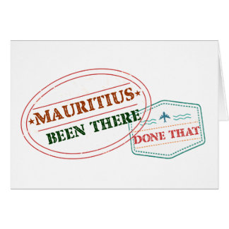Mauritius Been There Done That Card