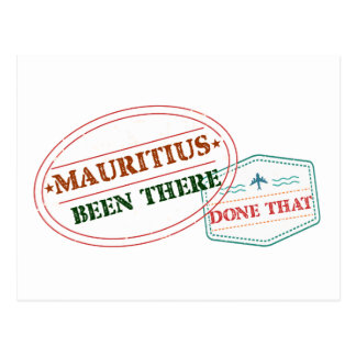Mauritius Been There Done That Postcard