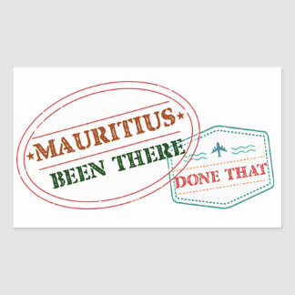 Mauritius Been There Done That Sticker