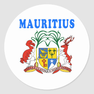 Mauritius Coat Of Arms Designs Classic Round Sticker