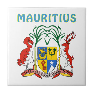 Mauritius Coat Of Arms Tile