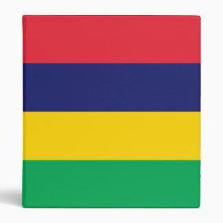 Mauritius Flag 3 Ring Binder