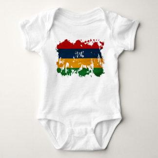 Mauritius Flag Baby Bodysuit