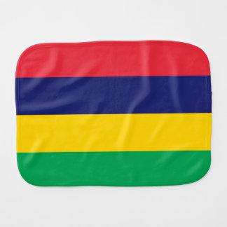 Mauritius Flag Burp Cloths
