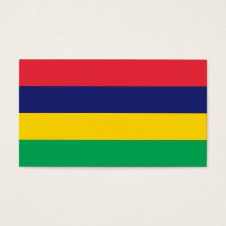 Mauritius Flag Business Card