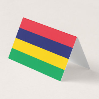 Mauritius Flag Business Card