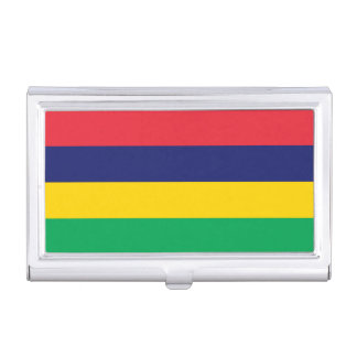Mauritius Flag Business Card Holder