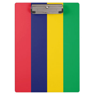 Mauritius Flag Clipboard