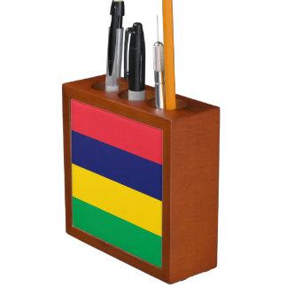 Mauritius Flag Desk Organizer
