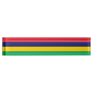 Mauritius Flag Name Plate
