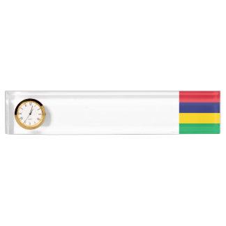 Mauritius Flag Nameplate