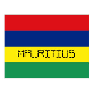 Mauritius flag postcard
